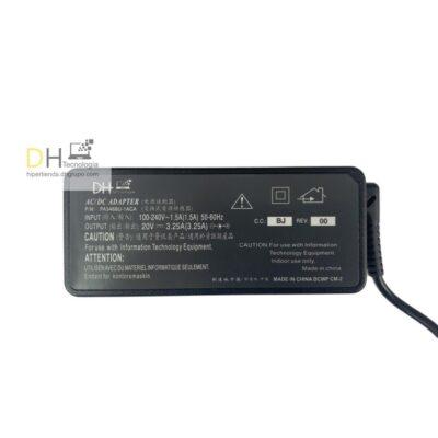 Cargador Portátiles Lenovo Punta USB 20v 3.25 Nuevo